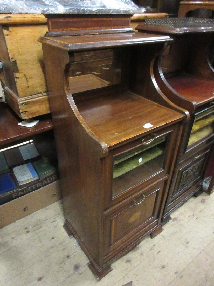 Edwardian mahogany satinwood crossbanded and line