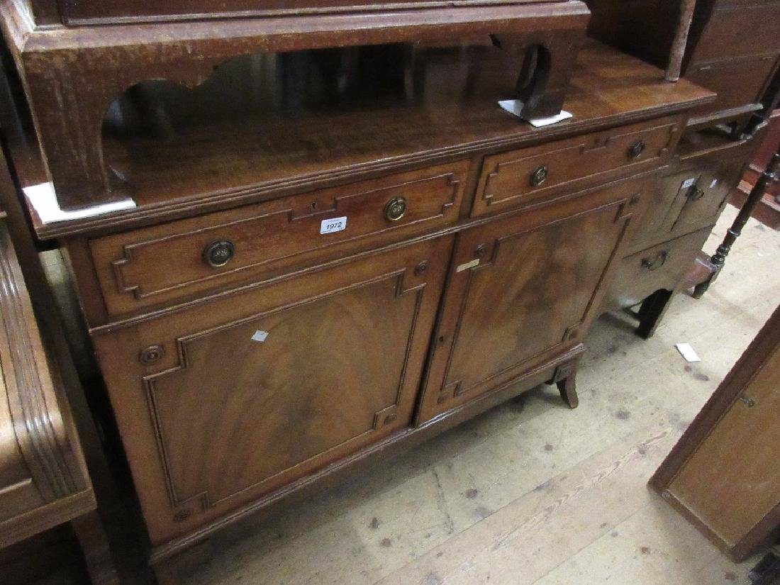 Early to mid 20th Century figured mahogany side cabinet