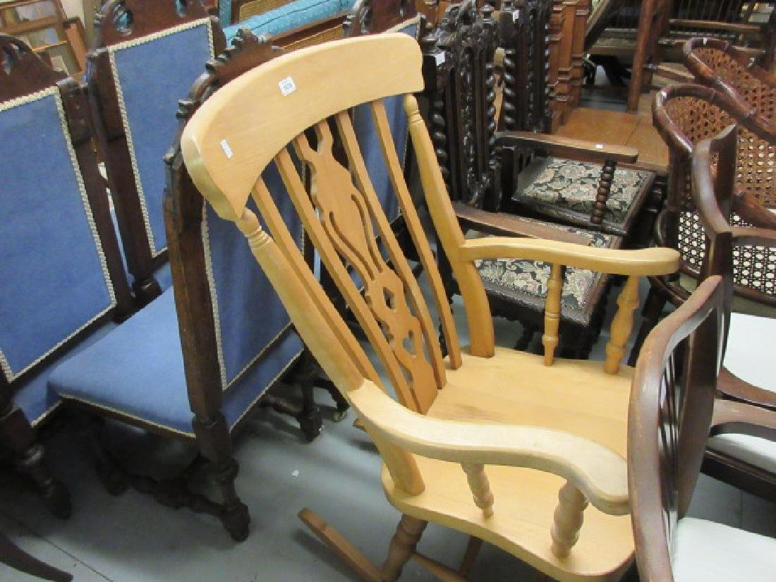 Reproduction beechwood Victorian style rocking chair