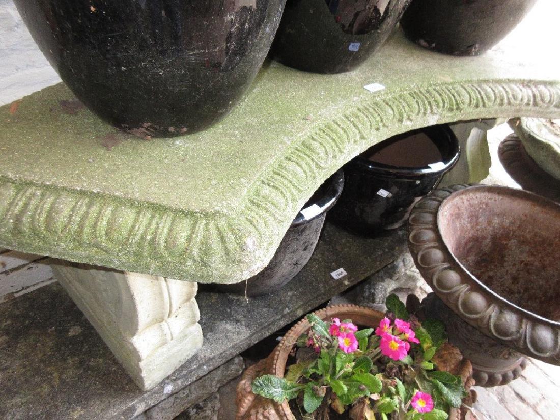 Cast concrete garden seat