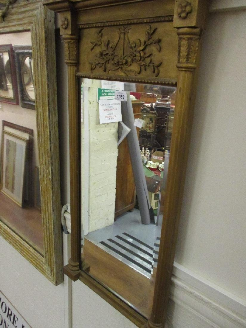 Gilded and moulded composition rectangular pier mirror