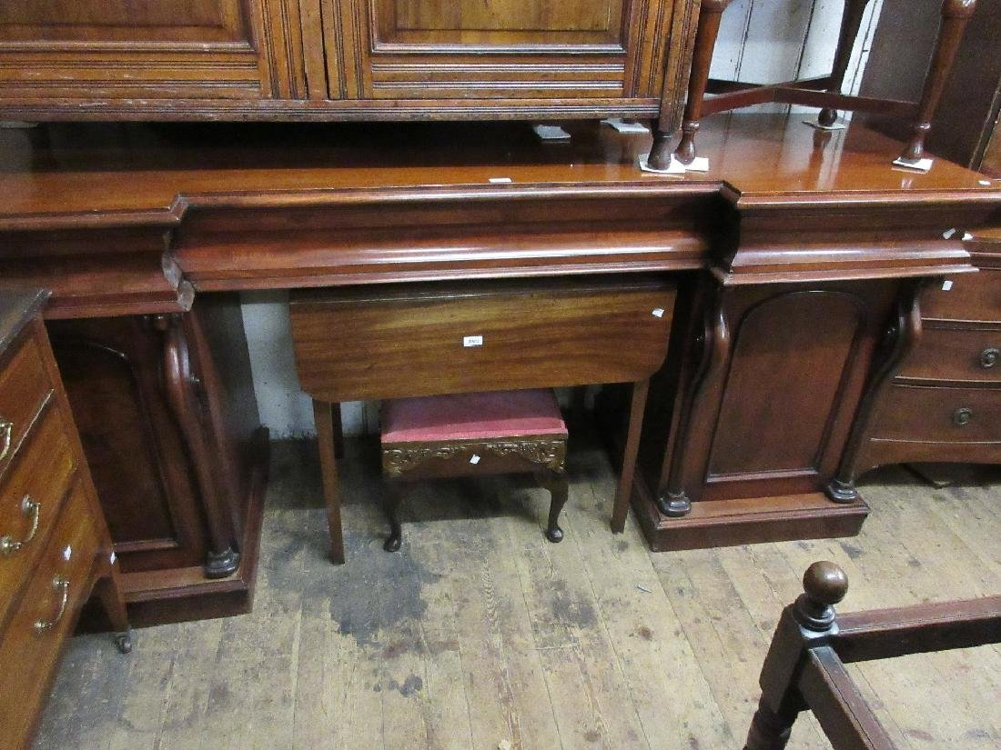 Victorian mahogany inverted breakfront pedestal