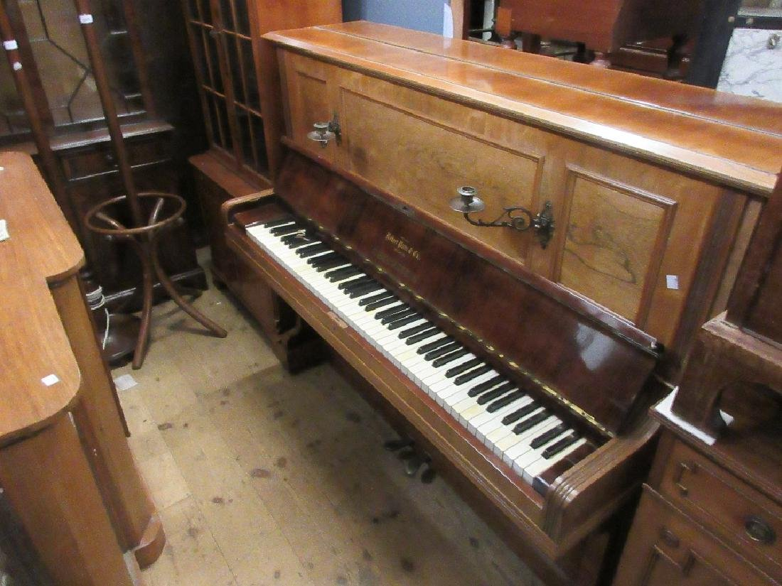 Rosewood cased upright piano by C. Bechstein