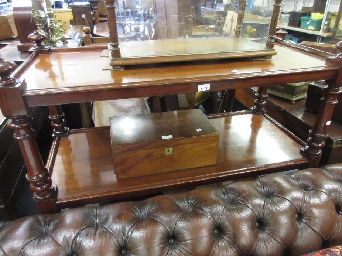 Good quality Victorian mahogany three tier buffet on