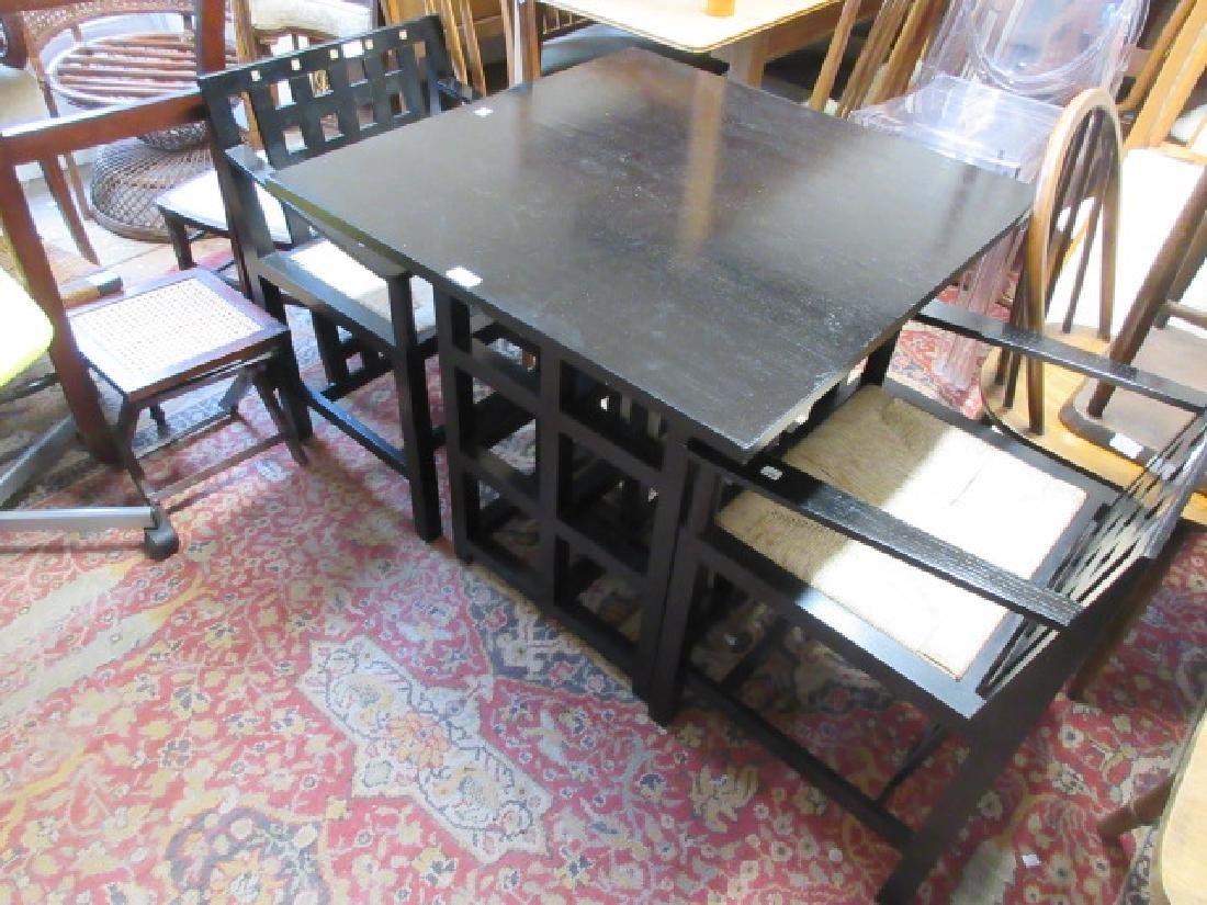 Charles Renee Mackintosh designed ebonised table with