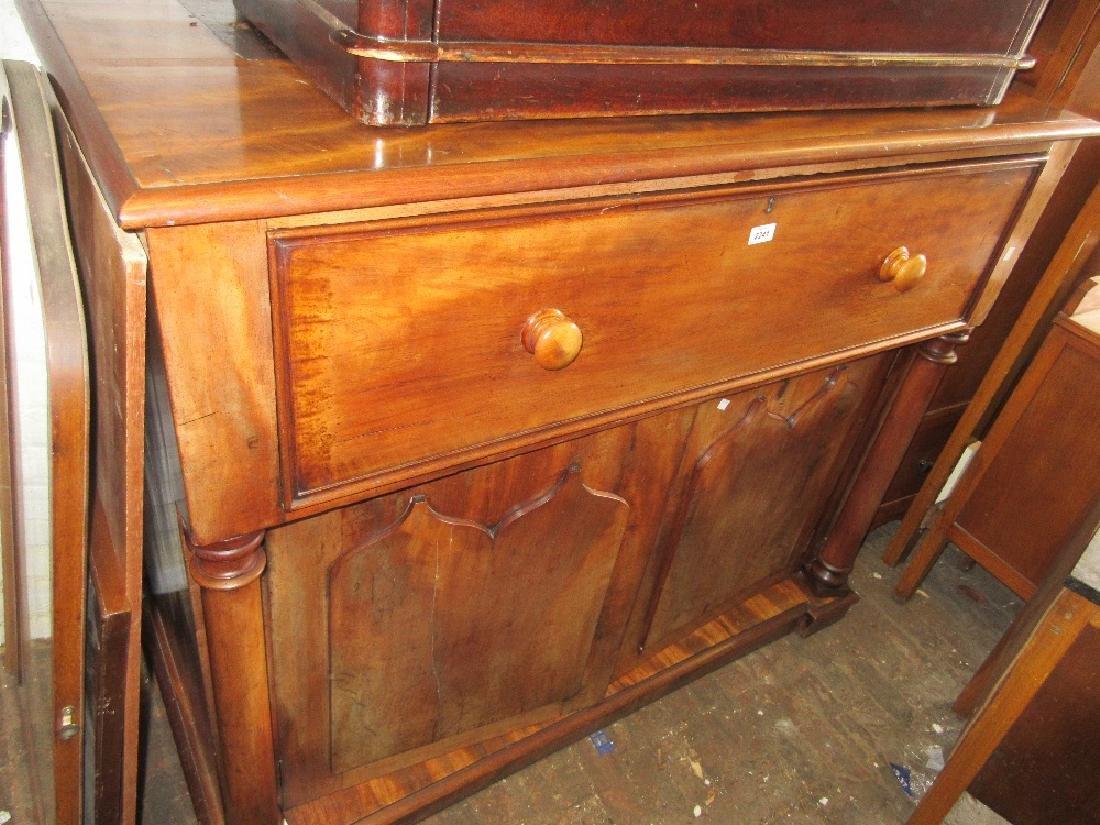 19th Century mahogany secretaire bookcase base having