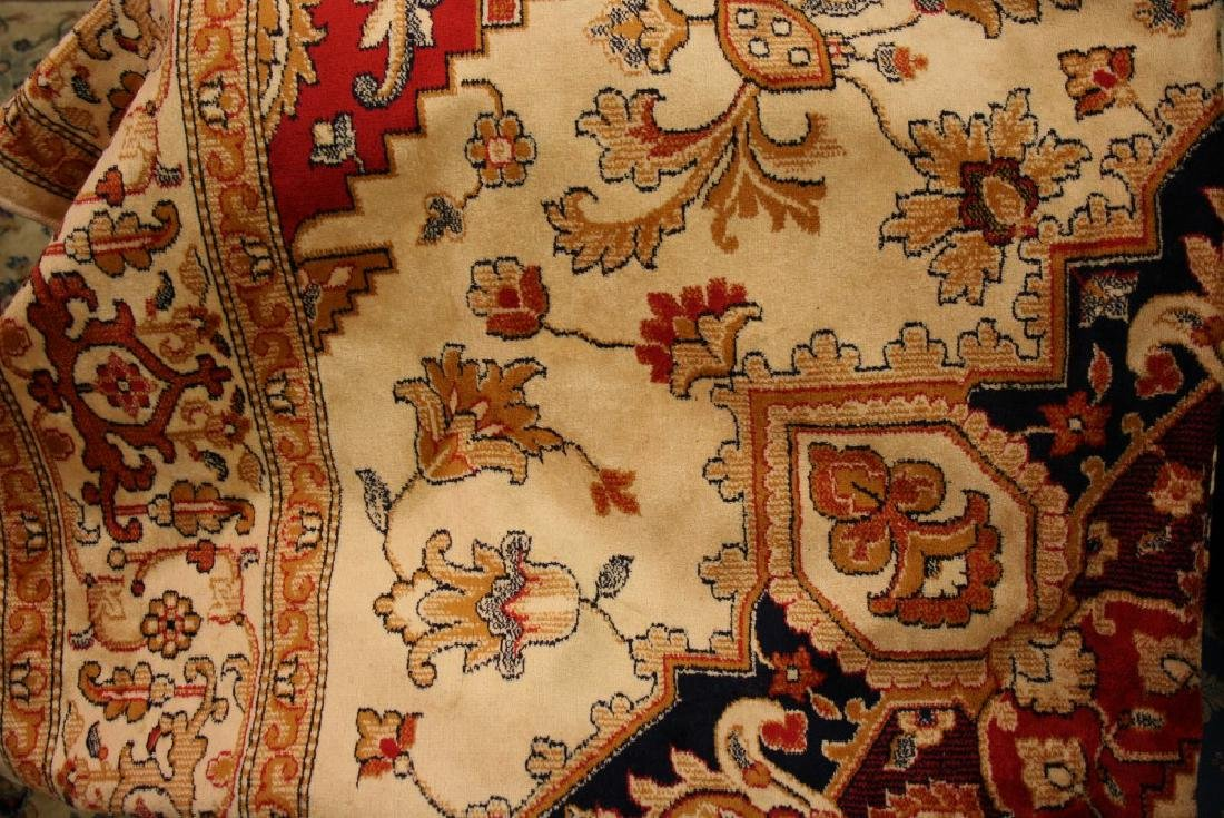 Beige ground Heriz pattern machine woven carpet, 2.30m