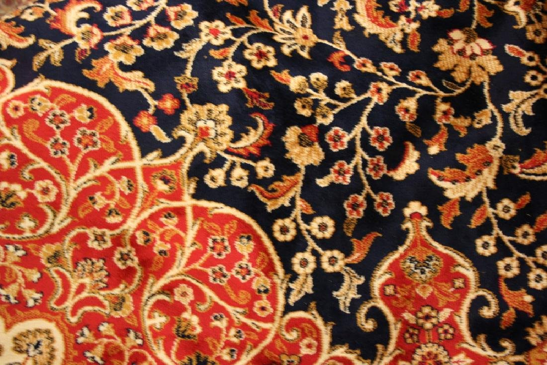 Blue ground Kashan pattern machine carpet, 2.8m x 2m