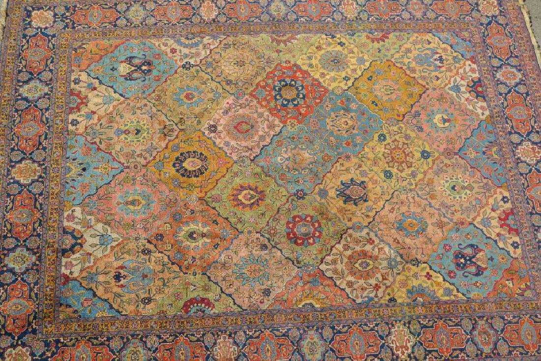 Tabriz carpet with an all-over tile and palmette design