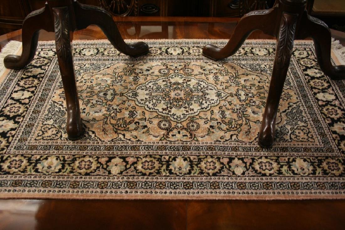 Indian Persian design rug with medallion and all-over