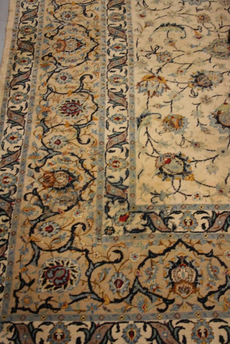 Tabriz carpet having all-over floral design with