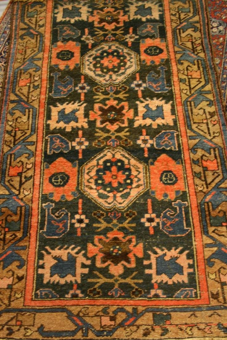 Kurdish rug having central medallion with geometric