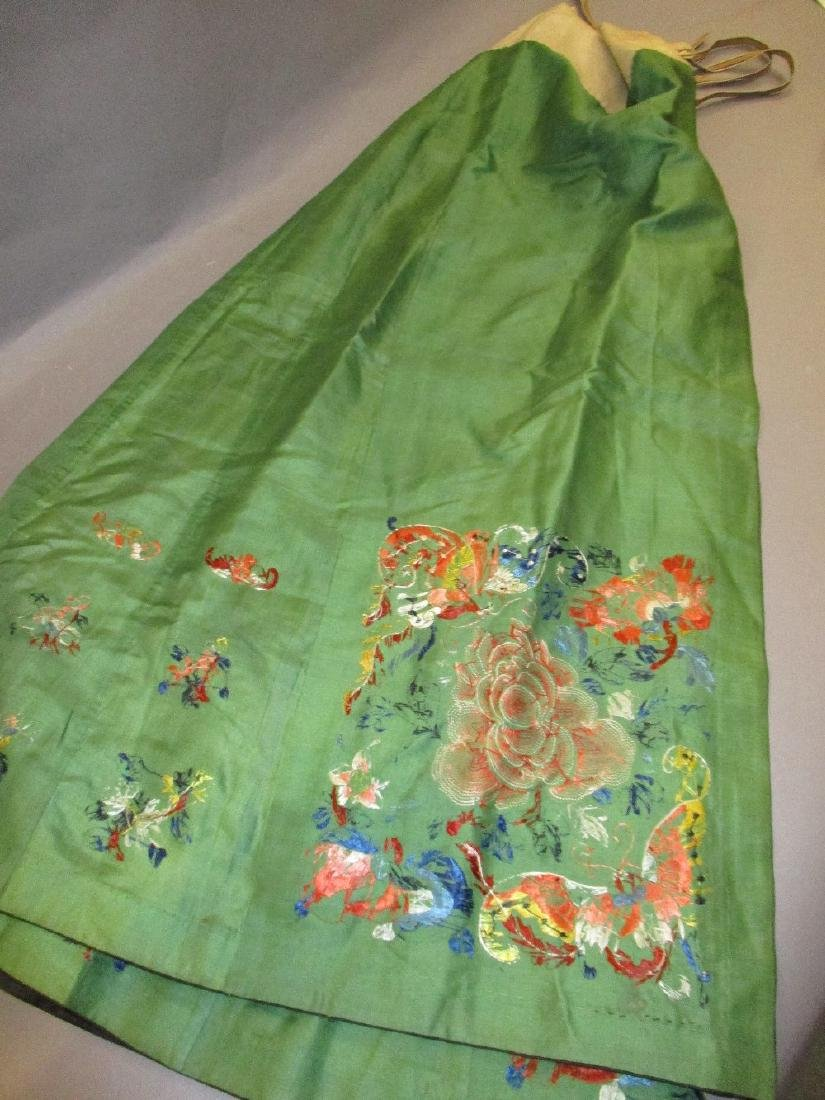 Chinese silk embroidered skirt, Chinese silk