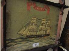 Early 19th Century sailors woolwork picture three