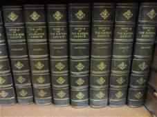 Set of twelve part leather bound volumes, ' Novels of