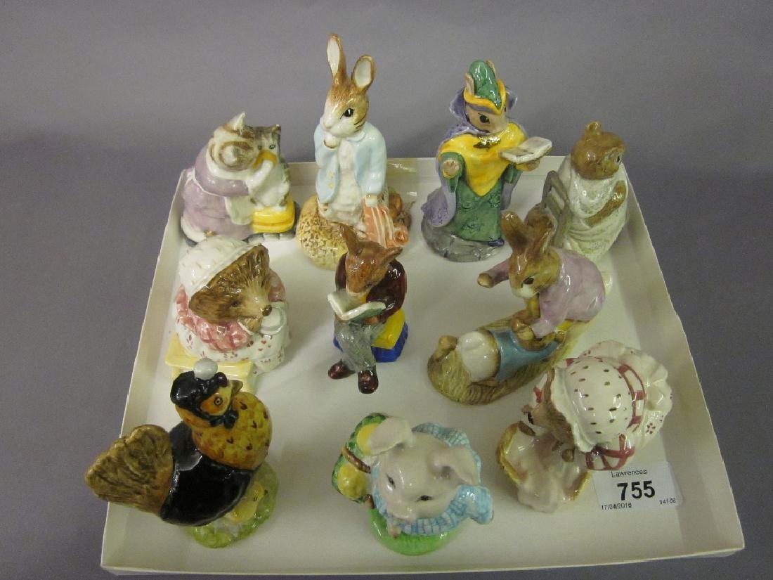 Group of ten various Beatrix Potter and Bunnykins