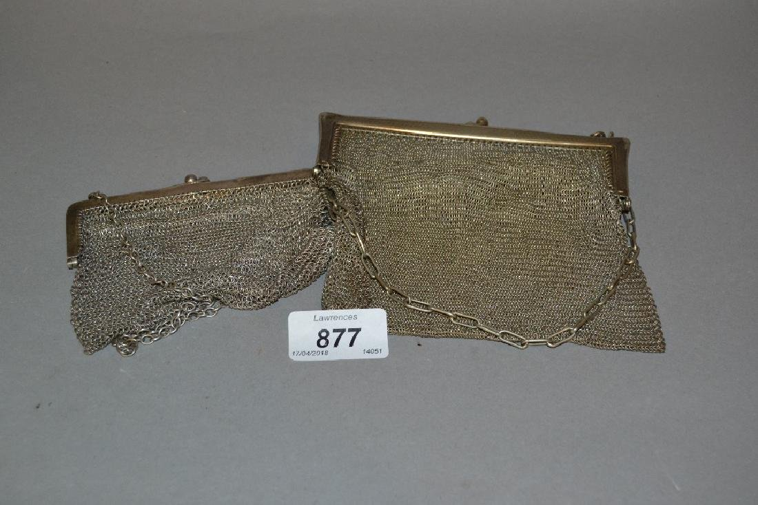 Birmingham silver chain mesh evening purse together