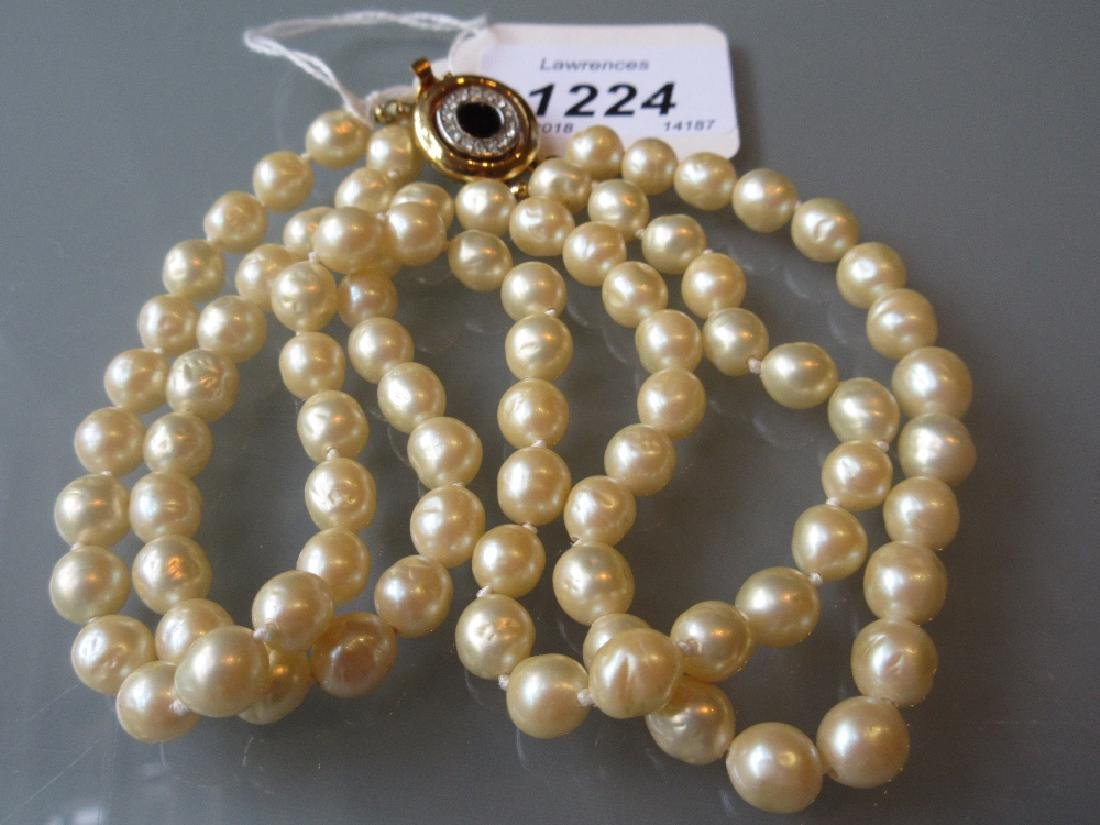 Givenchy two strand fresh water pearl necklace with