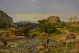 Attributed to Charles Henry Poingdestre oil on canvas