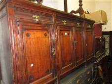 Large late Victorian walnut mirror backed sideboard