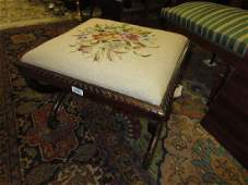 George IV simulated rosewood Xframe stool with a