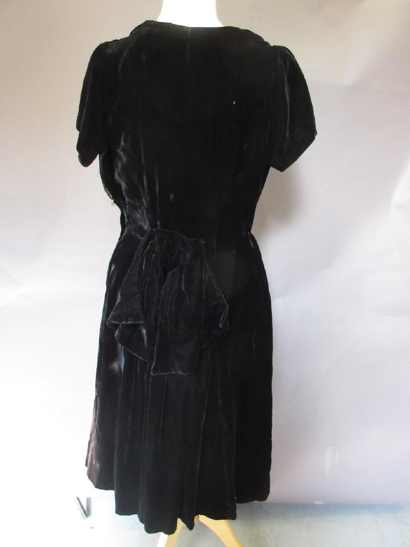 1920's black and red beadwork flapper dress (at fault), - 7