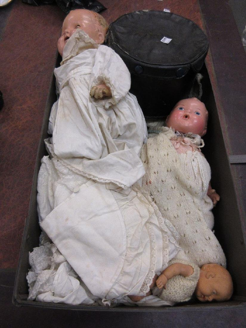 Fairylite, small ruberoid doll together with two