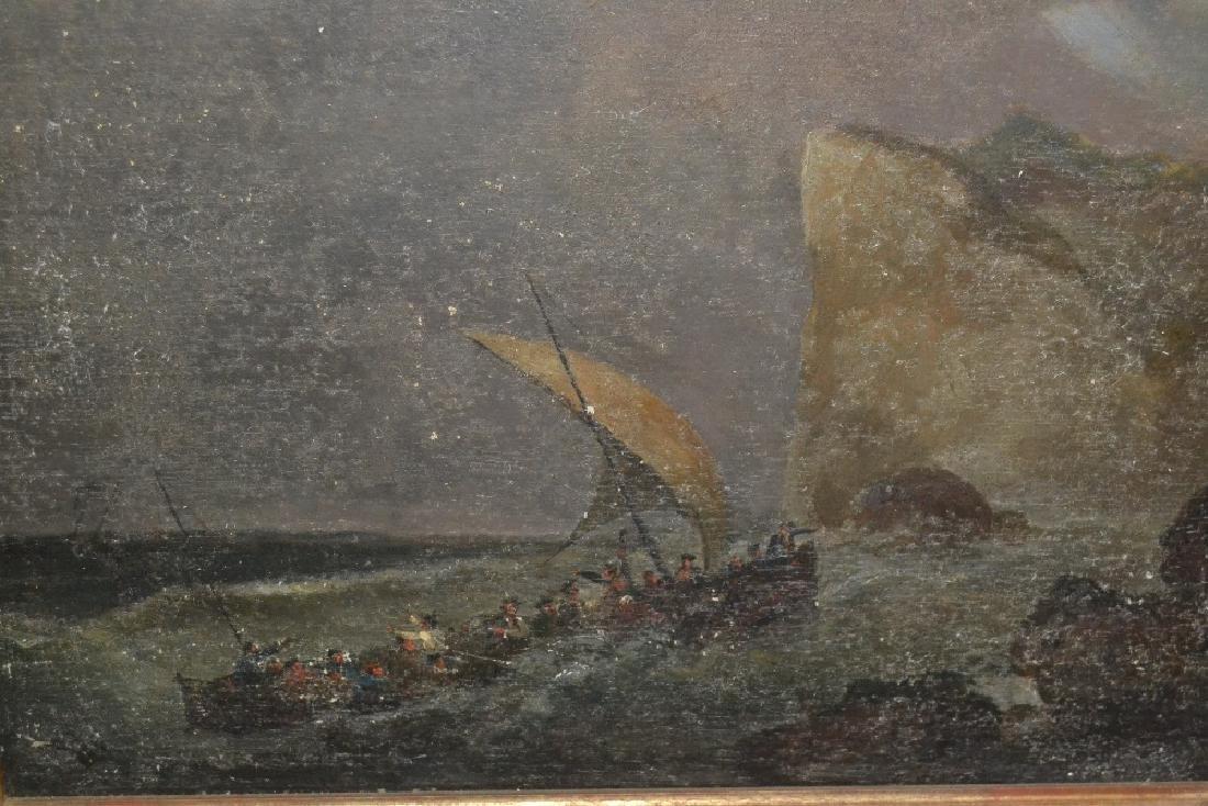 Late 19th / early 20th Century oil on board, coastal
