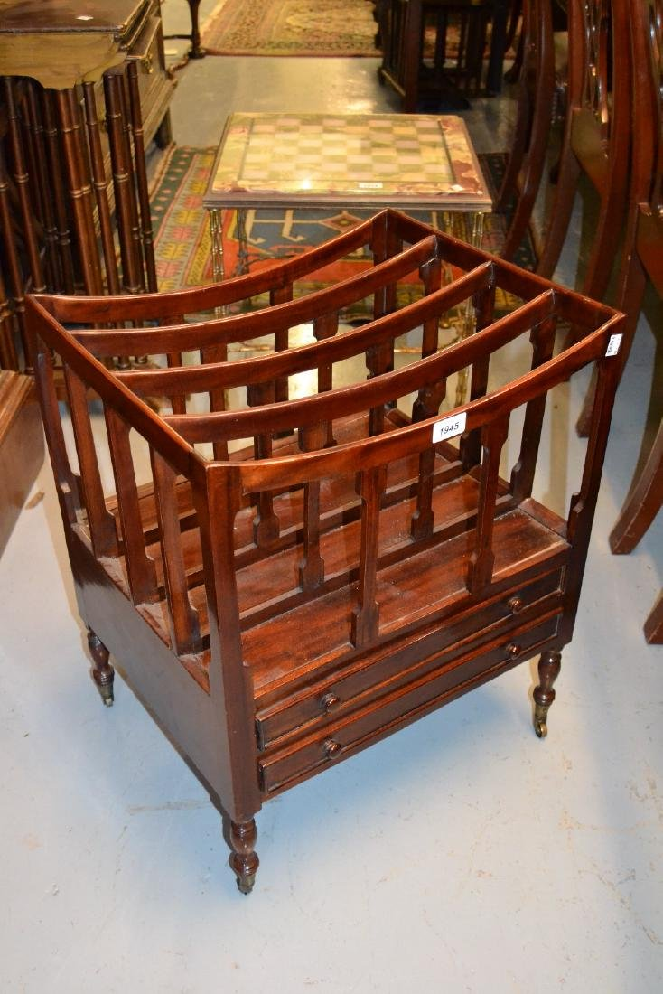 Reproduction mahogany four division Canterbury together