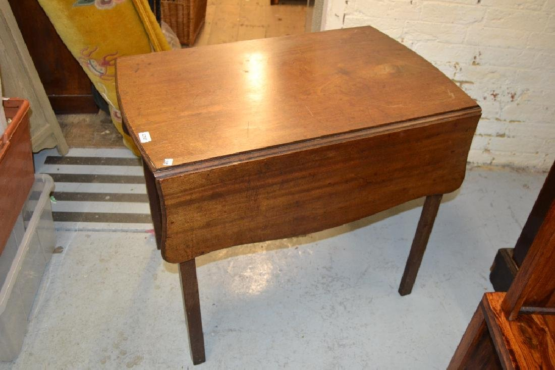 19th Century mahogany rectangular shaped top Pembroke