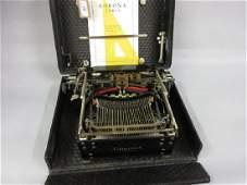 Early 20th Century Corona folding portable typewriter