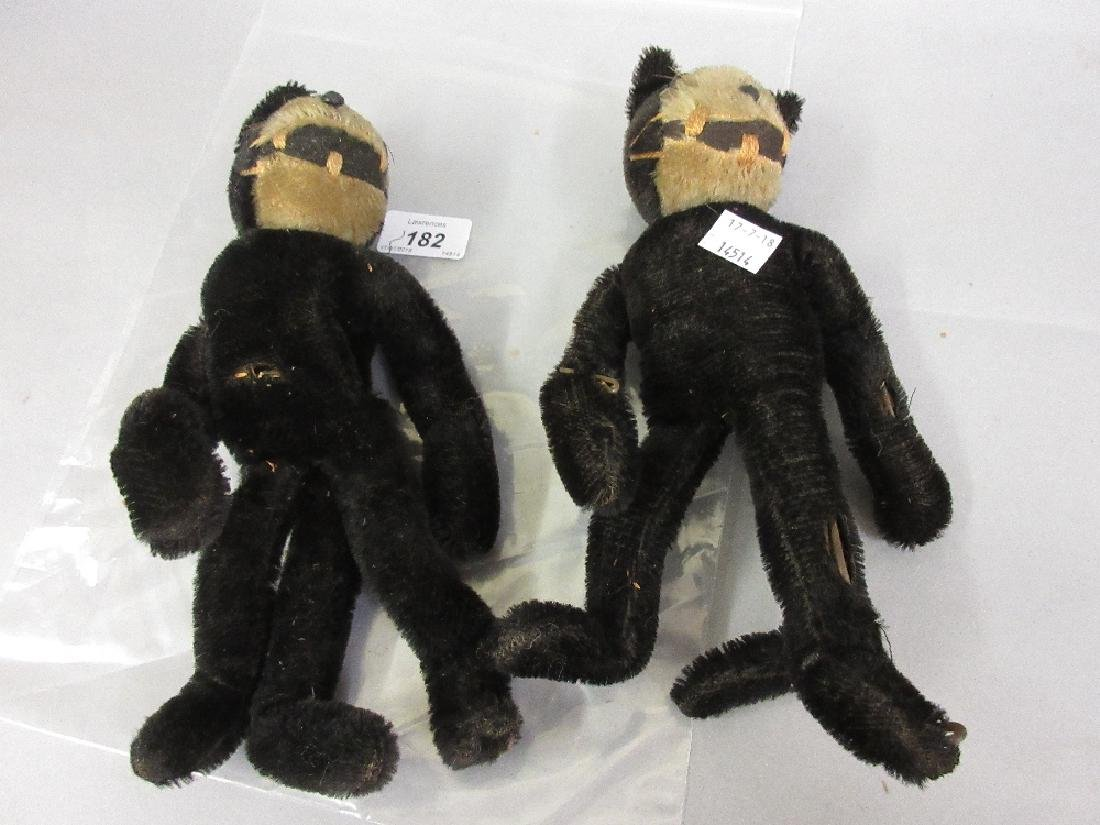 Two early straw stuffed Felix the Cat figures