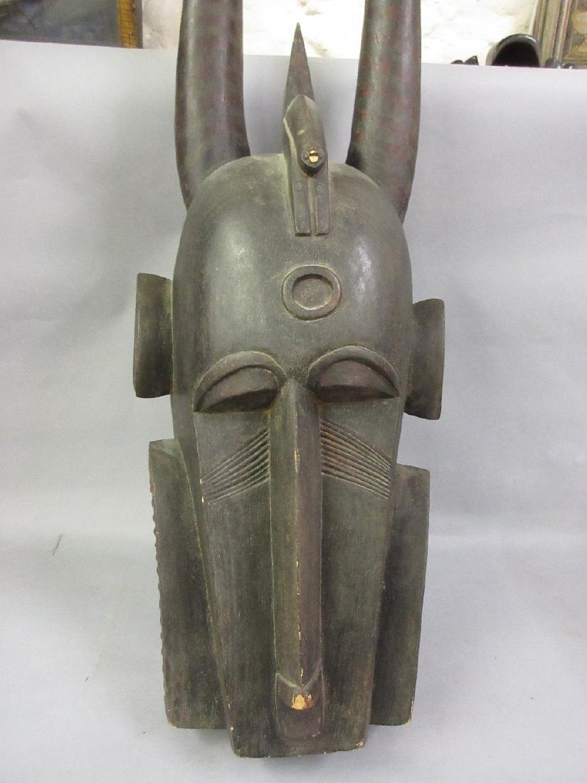 Large Senufo Fire Spitter carved hardwood mask