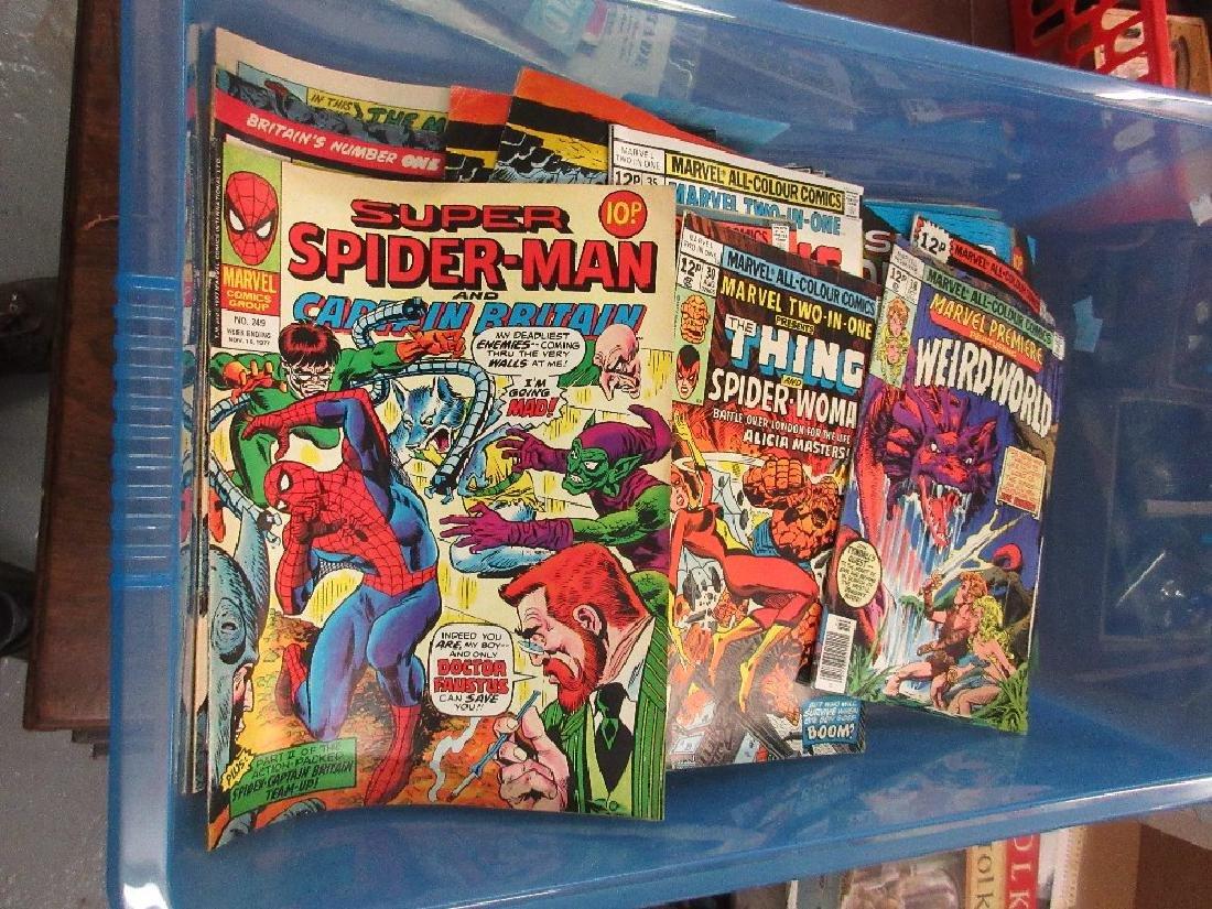 Large quantity of Marvel comics including Hulk and Iron