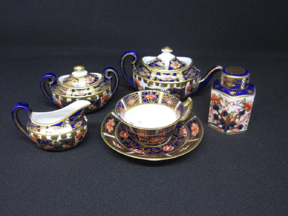 Miniature Royal Crown Derby Imari pattern  tea service,