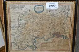 Small Robert Morden antique hand coloured map of