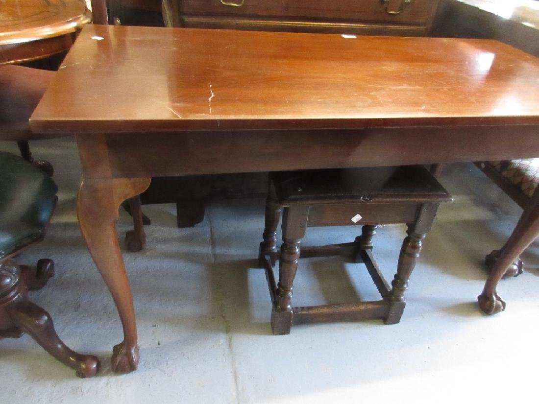Rectangular mahogany single drop-leaf dining table