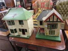 1930's Small doll's house with crittle windows,