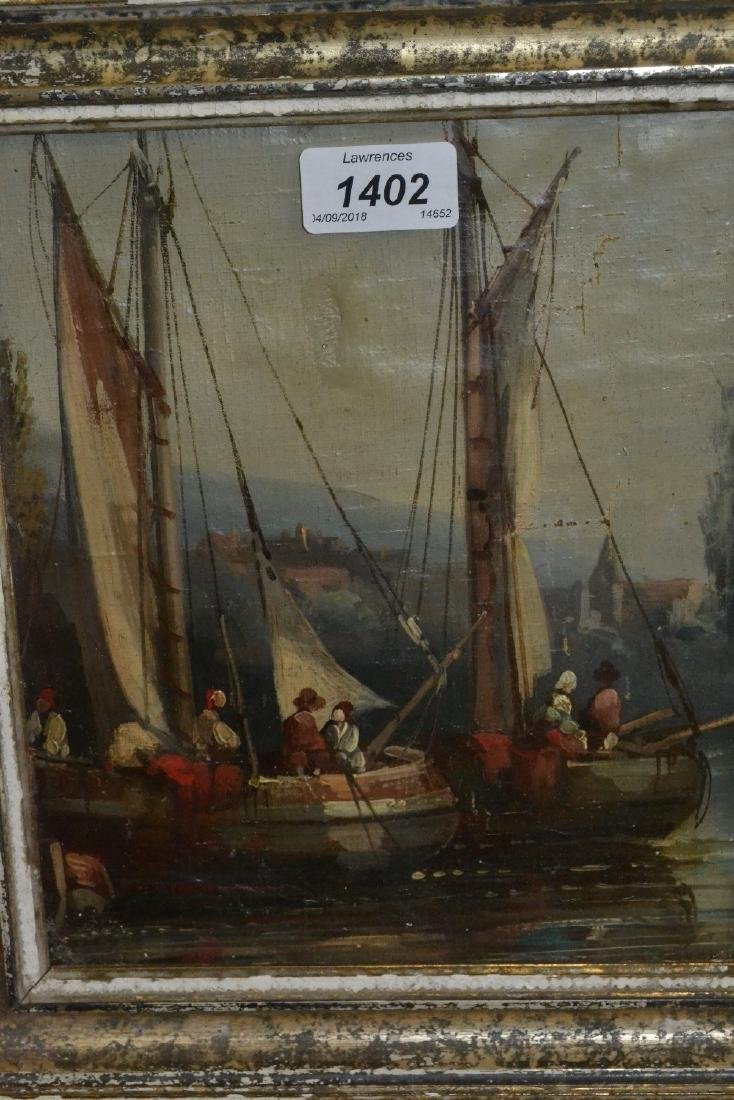 Small Dutch school, oil painting on canvas, moored