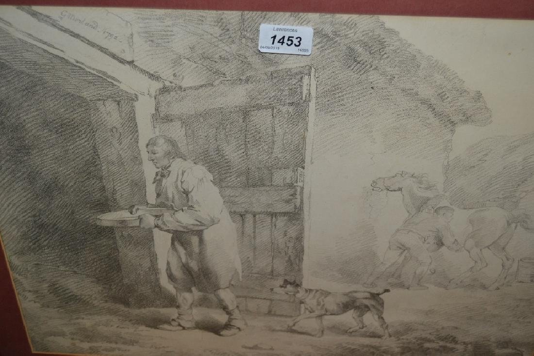 Pair of framed black and white engravings after