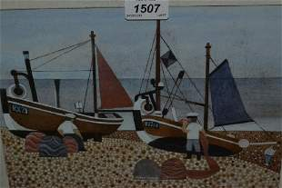 Alfred Daniels, signed watercolour and gouache, naive