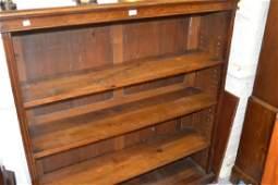 Edwardian mahogany four shelf open bookcase with