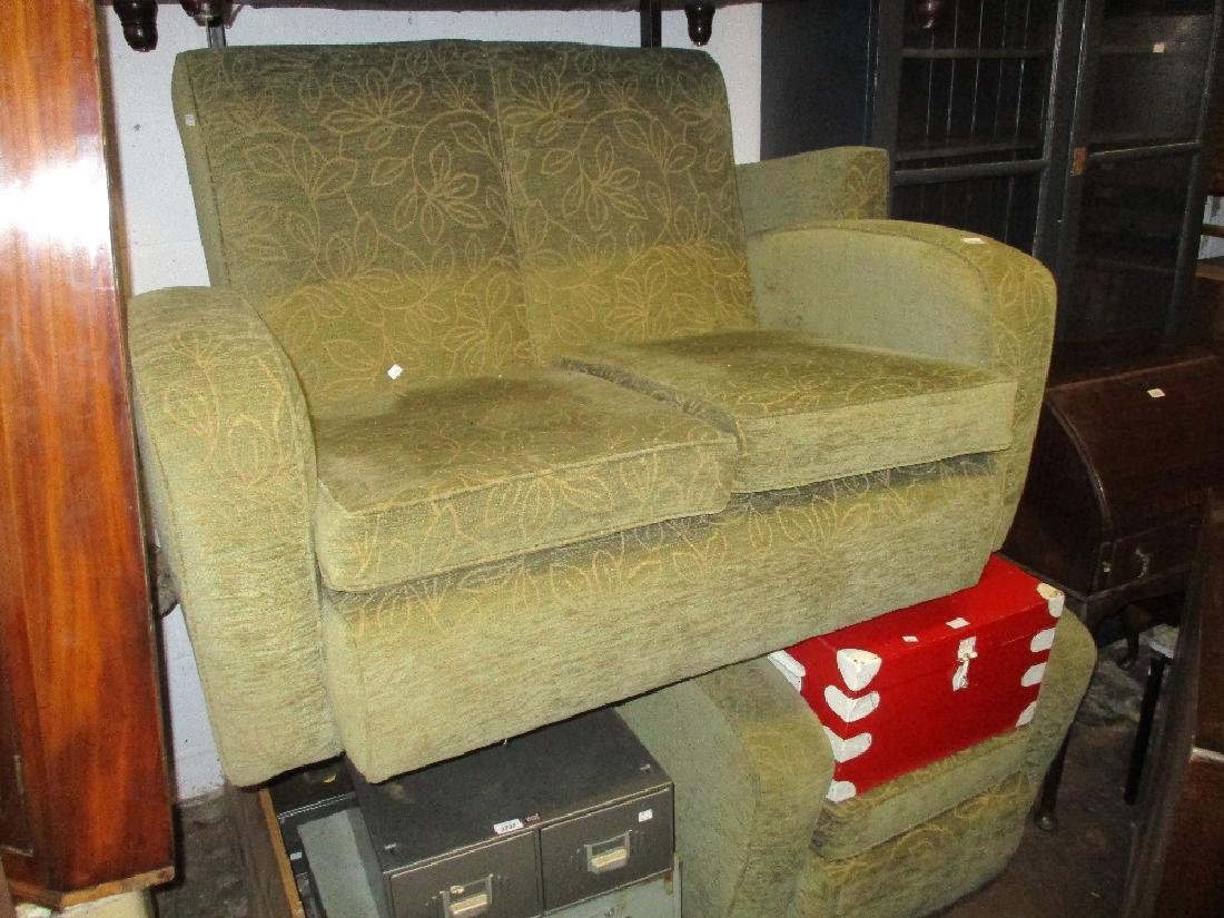 vintage art deco furniture. Mid 20th Century Art Deco Two Seat Sofa Together With A Vintage Furniture