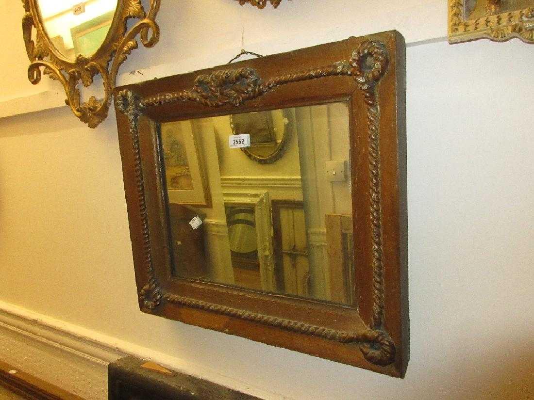 Victorian rectangular gilt framed wall mirror with a