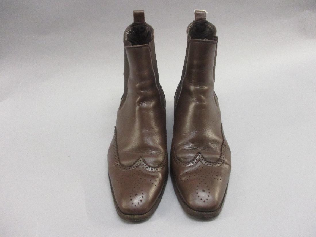 Pair of ladies Ralph Lauren brown leather Chelsea