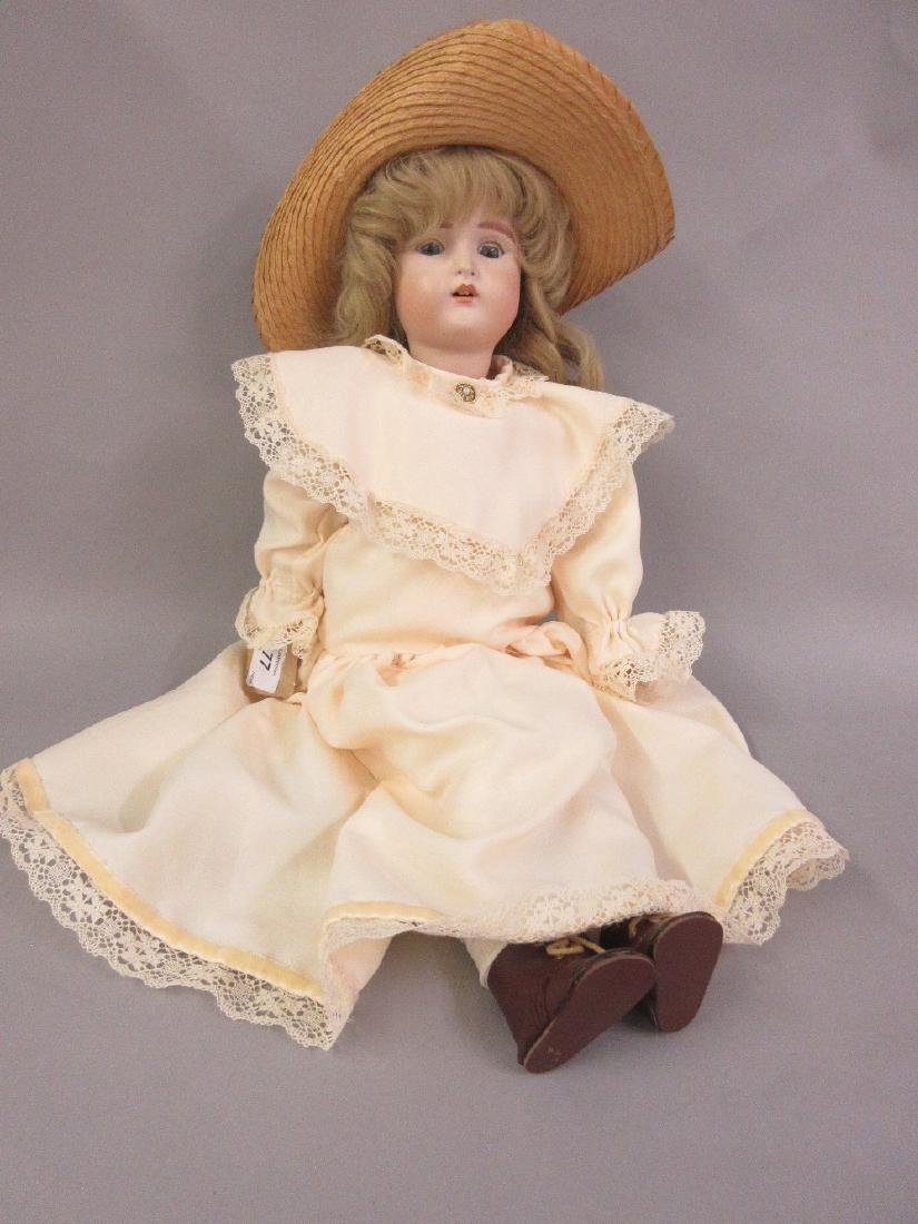 Reproduction Kestner 20in bisque headed doll with