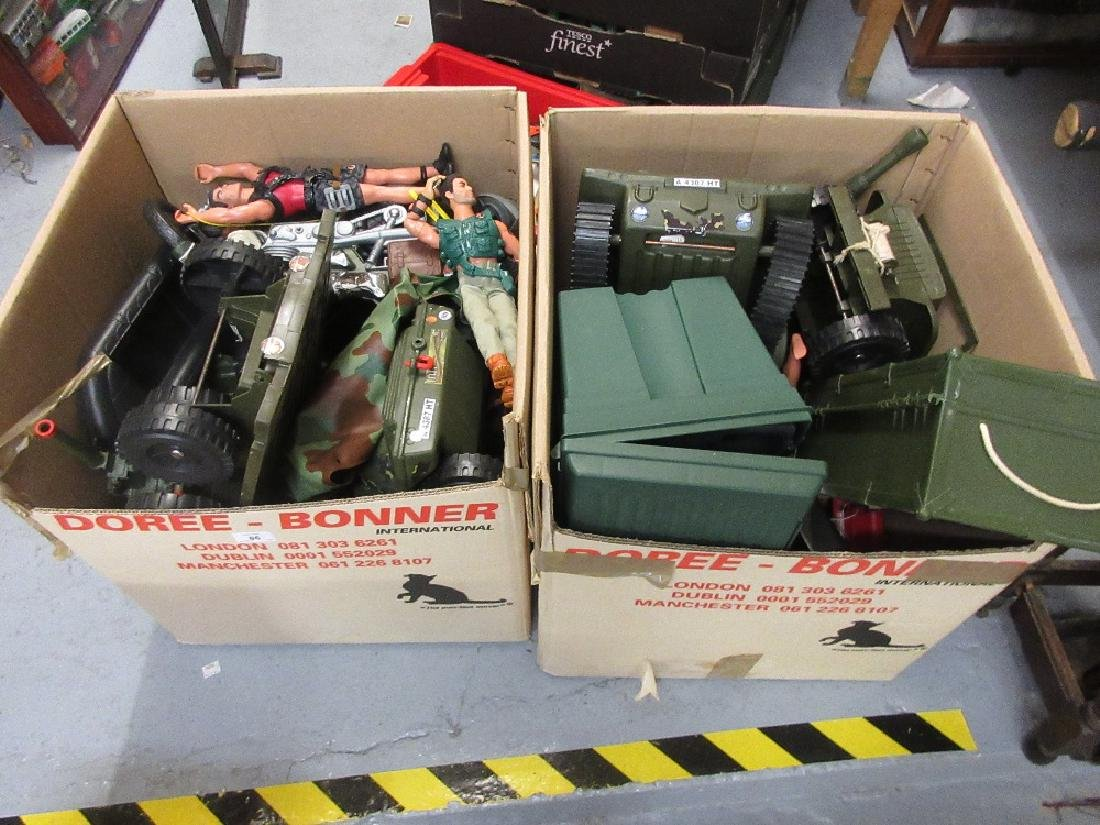 Two large boxes containing a collection of later Action