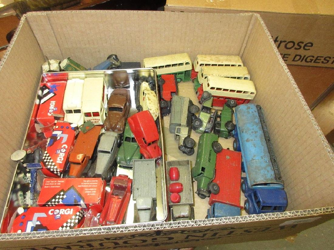 Collection of play worn Dinky Toys models including: