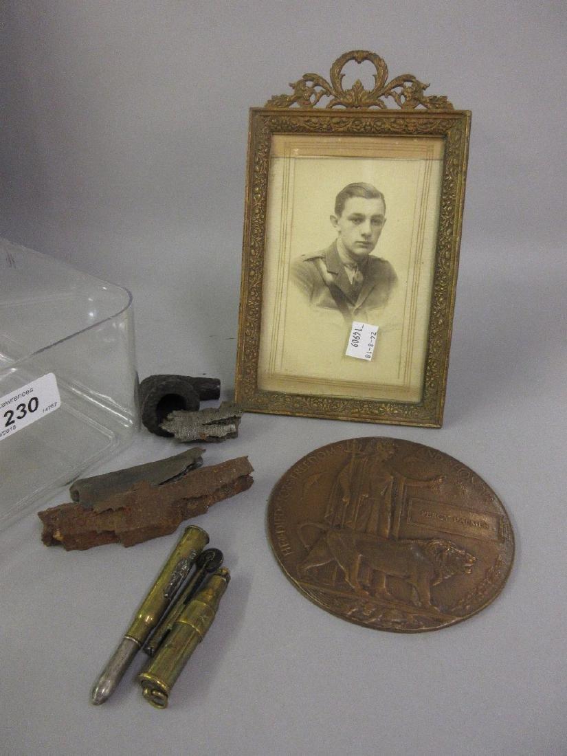 World War I memorial plaque to Percy Palmer, together
