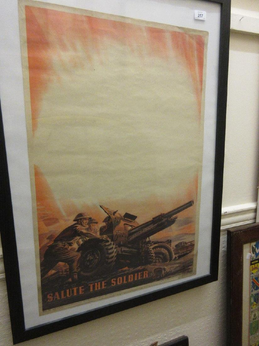 World War II poster, ' Salute the Soldier ' printed by